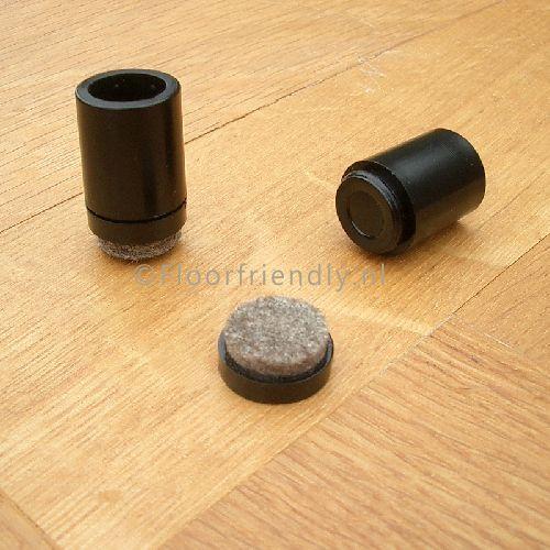 Omdop met vilt (vervangbaar) voor metalen stoelpoten - Floorfriendly.nl