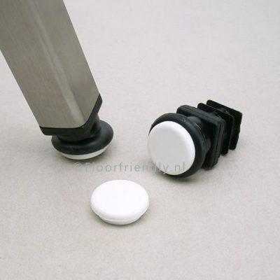 Stoelpootdop vierkant, extra sterk voor schuine stoelpoten - Floorfriendly.nl