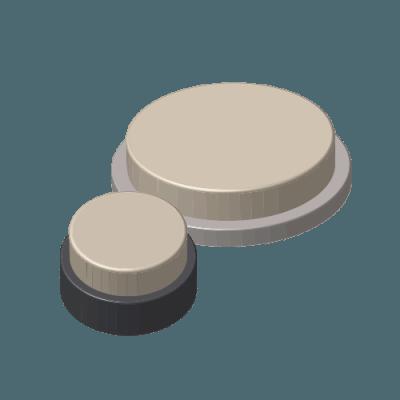 Losse viltschijfjes (voor doppen met vervangbaar vilt)