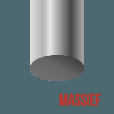 Metalen stoelpoot (massief, niet hol)